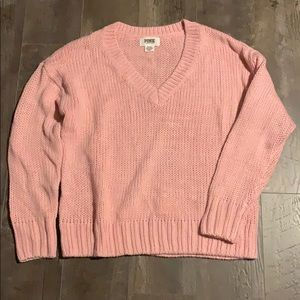 VS PINK v neck sweater light pink size medium